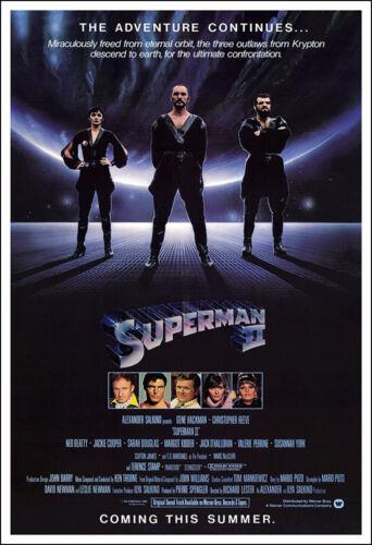 1980 Action Adventure Superman 2 II Movie Poster Print 1 Sheet Artwork