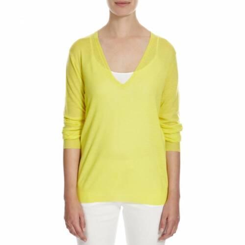 s Cashmere Joseph Canary 100 Designer Sweater S Yellow Uk10 Jumper rAwwp8Egqn