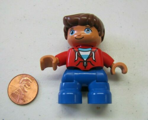 LEGO DUPLO BOY BROTHER CHILD KID Red Hoodie Shirt FIGURE Rare