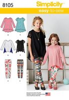 Sewing Pattern Make Girls Knit Tunicleggings Playschool Clothes 3-6/7-14