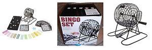 Tombola-Bingo-Set-lotto-18-cartelle-150-gettoni-ruota-estrazioni-in-metallo