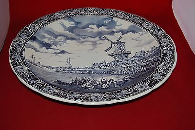 Wall Hanging Pure Whiteness Orderly Boch Belgium Delft Blue & White Large Platter