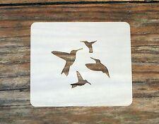 Hummingbirds Face Painting Stencil 7cm x 6cm 190micron Washable Reusable Mylar
