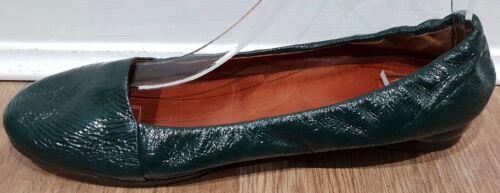pelle vernice Uk6 Van Dries con Ballerine 39 piatte verde in zeppa in Noten smeraldo PO00qw
