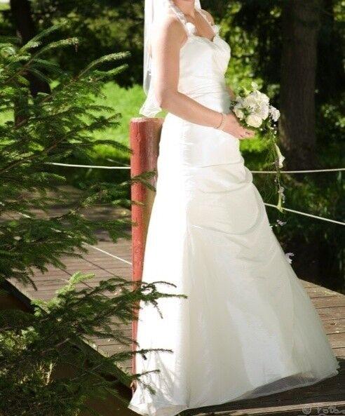 Tolles Tolles Tolles Brautkleid, Marke Cecile, Farbe Ivory, Größe 38 40, Perlen, Hochzeit, eeab5e