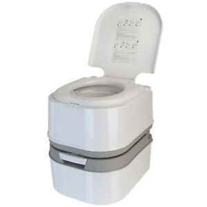 Mobile-Campingtoilette-Tragbares-WC-24-L-mit-Kolbenpumpe-und-44-cm-Sitzhoehe