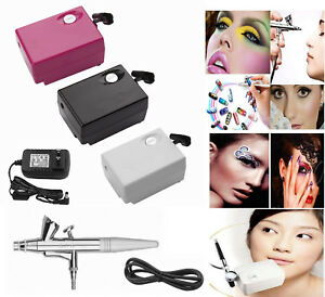 Mini-Beauty-Makeup-DC-Air-Compressor-Suit-for-Cosmetic-Tattoo-Hobby-Painting-New