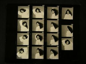 Diana-Ross-VINTAGE-Oversize-11x14-CONTACT-SHEET-By-Harry-Langdon-OS99