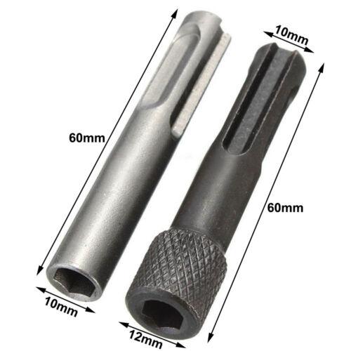 5x SDS Plus 1//4 Hex Socket Driver Hammer Drill Bit Chuck Adaptor Bar Kit Set NEW