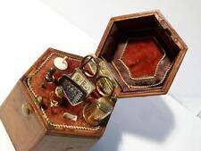 Antique Hexagonal Casket Sewing Etui Victorian Needles Crochet Hook Case Holder