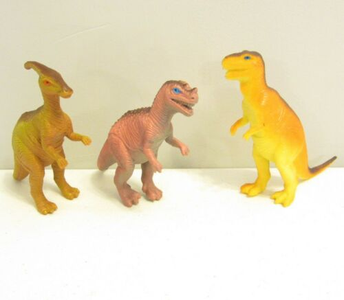 "3 NEW LARGE ASSORTED TOY DINOSAURS 6/"" DINOSAUR FIGURES DINO ANIMAL KIDS PLAYSET"