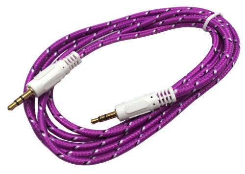 3.5mm Braided Stereo Audio Auxiliary AUX Cable for Apple iPod Touch 3 4 5 6 Gen