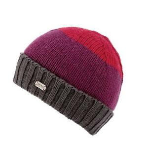 1bd17a3f1 Details about Kusan 100% Merino Wool Beanie Hat PK1827 Hand Made in Nepal  Red/Purple/Grey