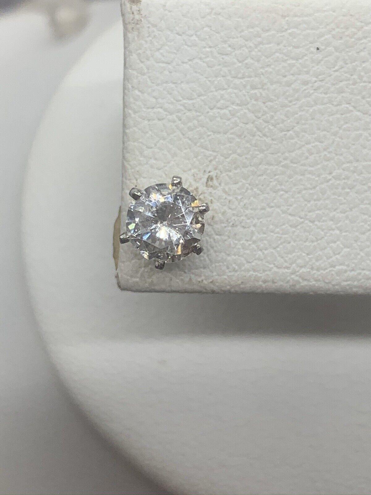 Vinatge Signed Monet Crystal Stud Earrings - image 2
