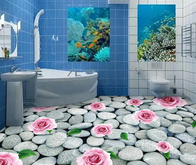 3D Stein Blumen 56 Fototapeten Wandbild Fototapete Tapete Familie DE Lemon