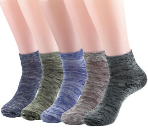 New-6-12-Pairs-Mens-Womens-Ankle-Quarter-Crew-Socks-Cotton-Stretch-Solid-Casual