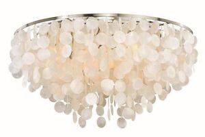 Details About 6 Light Elsa Capiz S Flush Mount Ceiling Vaxcel Lighting Fixture C0119