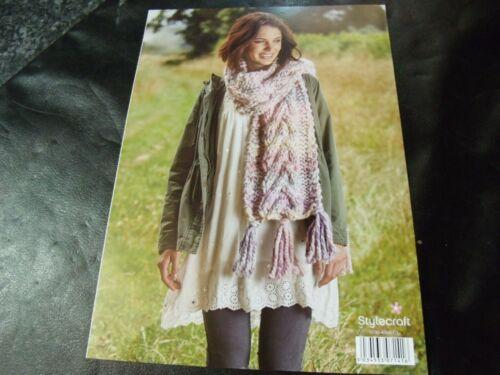 4 Quick Knit Designs Stylecraft Swift Knit Mega Super Chunky Pattern 9466