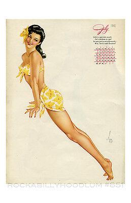 New Pin Up Girl Poster 11x17 print Varga Alberto Vargas Calendar April 1946 PINK