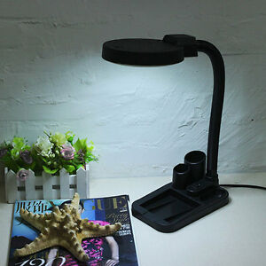 Magnifying Crafts Glass Desk Lamp With 5X 10X Magnifier With 40 LED Lights US/EU