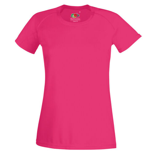 Fruit of the Loom Women/'s Short Sleeve Performance Sports T-Shirt Fast Dry Top