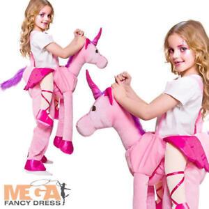 0c08f109cc94 Image is loading Deluxe-Ride-On-Fairytale-Unicorn-Girls-Fancy-Dress-