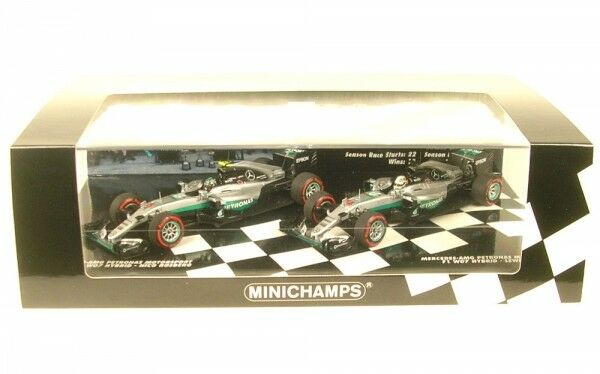 2 CAR SET MERCEDES AMG Petronas F1 Team W07 Hybrid Constructors World