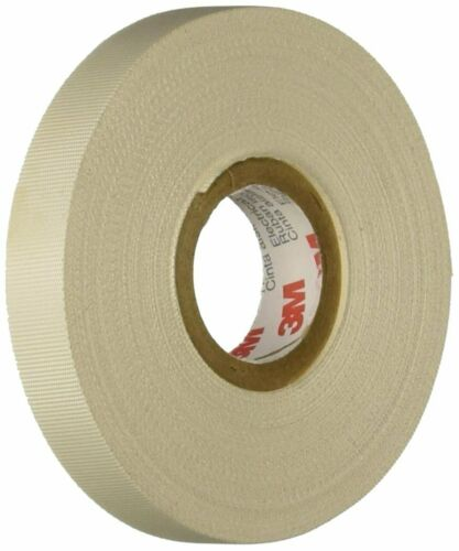 3M Glass Cloth Electrical Tape 27 White Rubber Thermosetting Adhsv .50in x 66ft