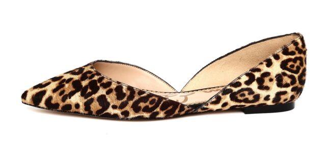 ec010e608360 Sam Edelman Rodney Women's Sand Jungle Leopard Brahma Hair Flats Sz 8W 4615