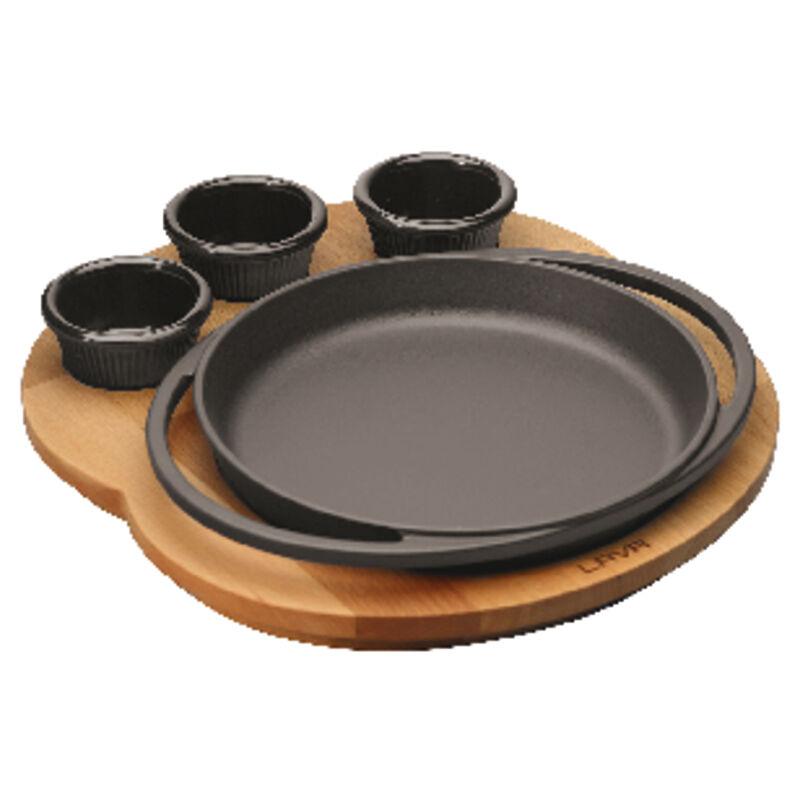 Paderno Piatto tondo ghisa con supporto platter legno Round plate   wooden platter supporto d6f263