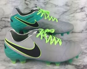 save off d007d 76dd9 Details about Nike Tiempo Legend VI FG ACC Soccer Cleats Wolf Grey Aqua Blue