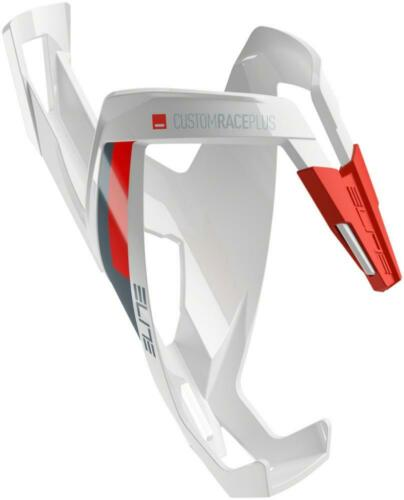 Glossy White//Red Elite Custom Race Plus Water Bottle Cage
