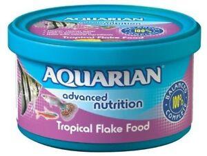 Genuine Aquarian Poisson Tropical Nourriture En Flocons 200 G Fish Tank Aquarium Flocons-afficher Le Titre D'origine