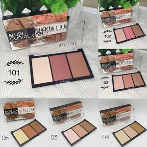 Makeup-Blush-Bronzer-Highlighter-Contour-Cosmetic-3-Color-Power-Palette-Beauty