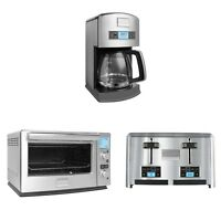 Frigidaire 12-cup Drip Coffee Maker + Convection Toaster Oven + 4 Slice Toaster on sale
