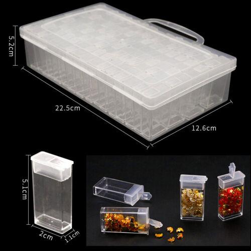 64 Grids Diamond Embroidery Painting Nail Art Case Organiser Display Storage Box