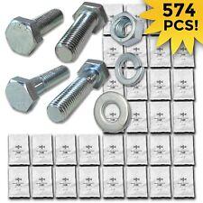 Grade 109 Metric Hex Cap Screws Hex Bolts Nut Washer Assortment Kit 574 Pcs