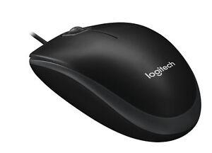 Logitech-B100-Maus-800Dpi-Schwarz-Optische-Business-Mouse-Optisch-USB-PC-Laptop