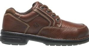 WOLVERINE-Men-Maple-Dark-Brown-Steel-Toe-TPU-NIB-Opanka-Leather-W04501-Work-Shoe