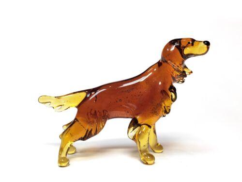 Glass Figurine Medium Dog Setter-Gordon brown #2116