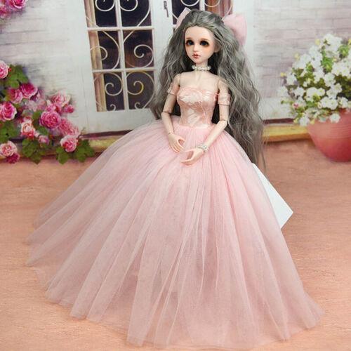 High Quality Doll Dress /& Veils Wedding Dress for 1//4 BJD Doll Clothes Kids Toy