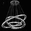Modern-LED-Crystal-Round-Ring-Chandelier-Pendant-Lamp-Ceiling-Lights-Adjustable miniature 1