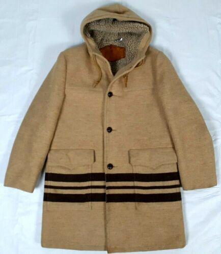 #565 Vintage Woolrich Hooded Striped Hudson Bay Wo