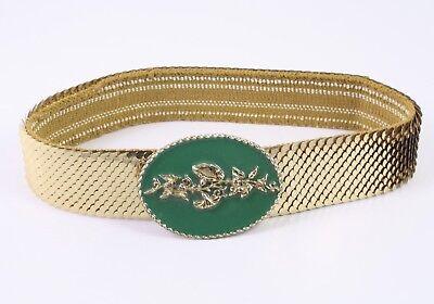 Dg174 Capannone Cintura In Vita Cintura Metallo Oro Elastici 60 - 95 Cm Vintage-mostra Il Titolo Originale