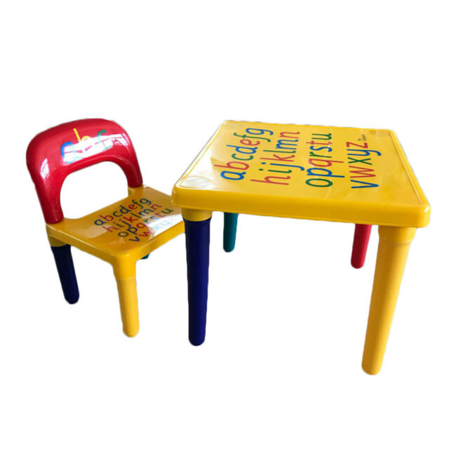 Admirable Kids Plastic Table And Chair Set Furniture Activity Toddler Toy Play Home Gifts Interior Design Ideas Gresisoteloinfo