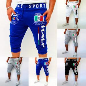 Casual-Sport-Jogger-Mens-Slim-Sports-Beach-Jogging-Pants-Gym-Trousers-Shorts