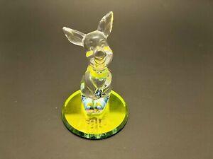 RARE Walt Disney World Arribas Brothers Crystal Glass PIGLET Figurine
