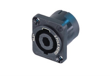 2 Pole Type Speakon Connector, NL2MP and SCDX Hinged Cover Seals Chassis Mount Solder Neutrik