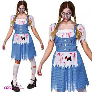 27e7176cd1abe Image is loading Zombie-Country-Girl-Womens-Ladies-Halloween-Dorothy-Fancy-