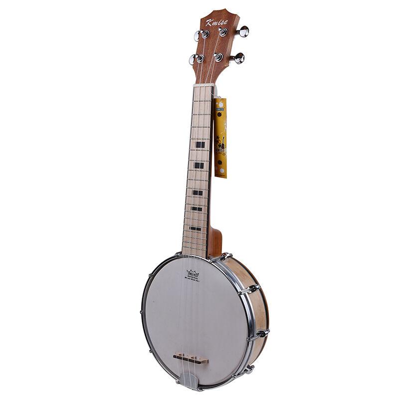 Kmise Concert Banjo Ukulele 4 String Ukelele Uke 23 Inch Maple Wood